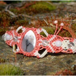 Bracelet macramé agate dendritique