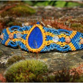 Bracelet macramé lapis lazuli