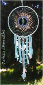 attrape-rêves bleu dreamcatcher pierre amazonite et turquoi