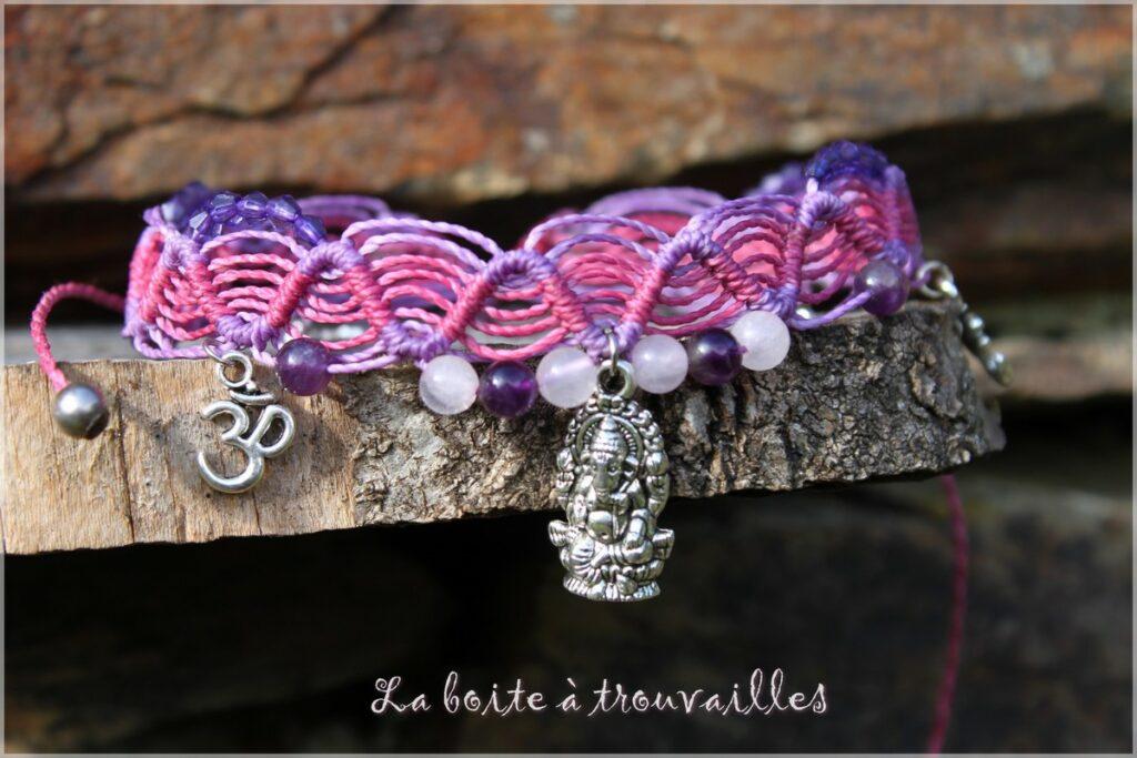 Exemple bracelet à faire en atelier macramé