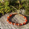 Bracelet mala graines sacrées et cornaline