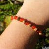 Bracelet mala graine sacrée et cornaline