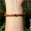 Bracelet mala graine et jaspe rouge