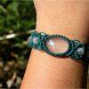 """Bracelet macramé """"etre soi"""" quartz rose"""