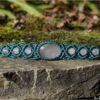 "Bracelet macramé ""etre soi"" vert quartz rose"