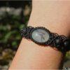 """Bracelet macramé """"etre soi"""" quartz rutile noir"""