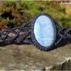 Bracelet macramé bleu opale owyhee