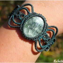 Bracelet macramé Séraphinite