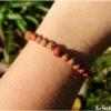 Bracelet jaspe rouge mala graine
