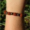 Bracelet mala pyrite graines sacrées