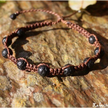 "Bracelet ""Shambala"" pierre de lave"
