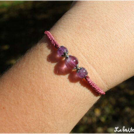 Bracelet simplicité améthyste