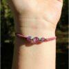 Bracelet simplicité améthyste violet