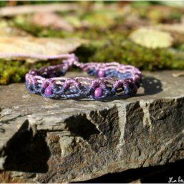 Bracelet enfant zigzag violet