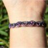 Petit bracelet zig zag violet