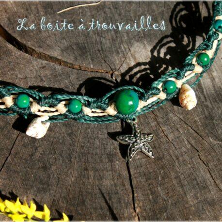 Bracelet zig chrysocolle