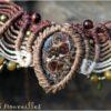 Bijou de tête agate fossile