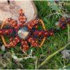 Bracelet macrame soleil labradortite