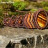 Bracelet macramé oeil de tigre marron
