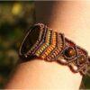 Bracelet macramé et oeil de tigre