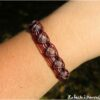 Bracelet zig zag quartz rose