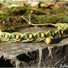 Bracelet macramé bois