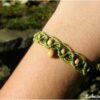 Bracelet chevillière macramé bois