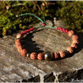 Bracelet graines sacrées et pyrite