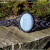Bracelet opale owyhee macrame bleu