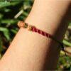 Bracelet macramé graine et pyrite